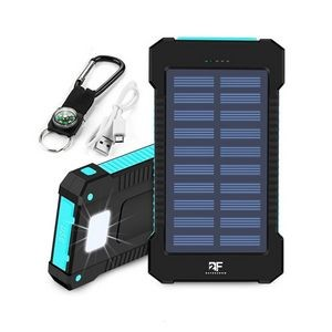 8000mAh Solar Power Bank With Compass